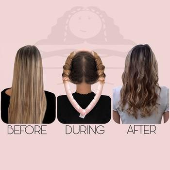 Lystrfac Slik Satin Heatless Hair Curler Headband for Women Hair Wrap Curling Ribbon Girls Scrunchies Headwear Hair Accessories 6
