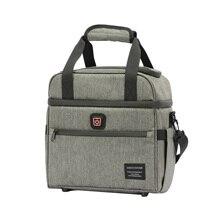 DENUONISS yalıtımlı çanta yaratıcı USB ısıtma tasarım tuval öğle yemeği çantası erkekler/kadınlar için su geçirmez büyük kapasiteli gıda termal çanta