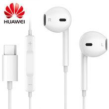 Fones de ouvido originais huawei honor usb tipo c, fones de ouvido com microfone intra-auricular para huawei mate 10/mate 10 pro honor 9 smartphones