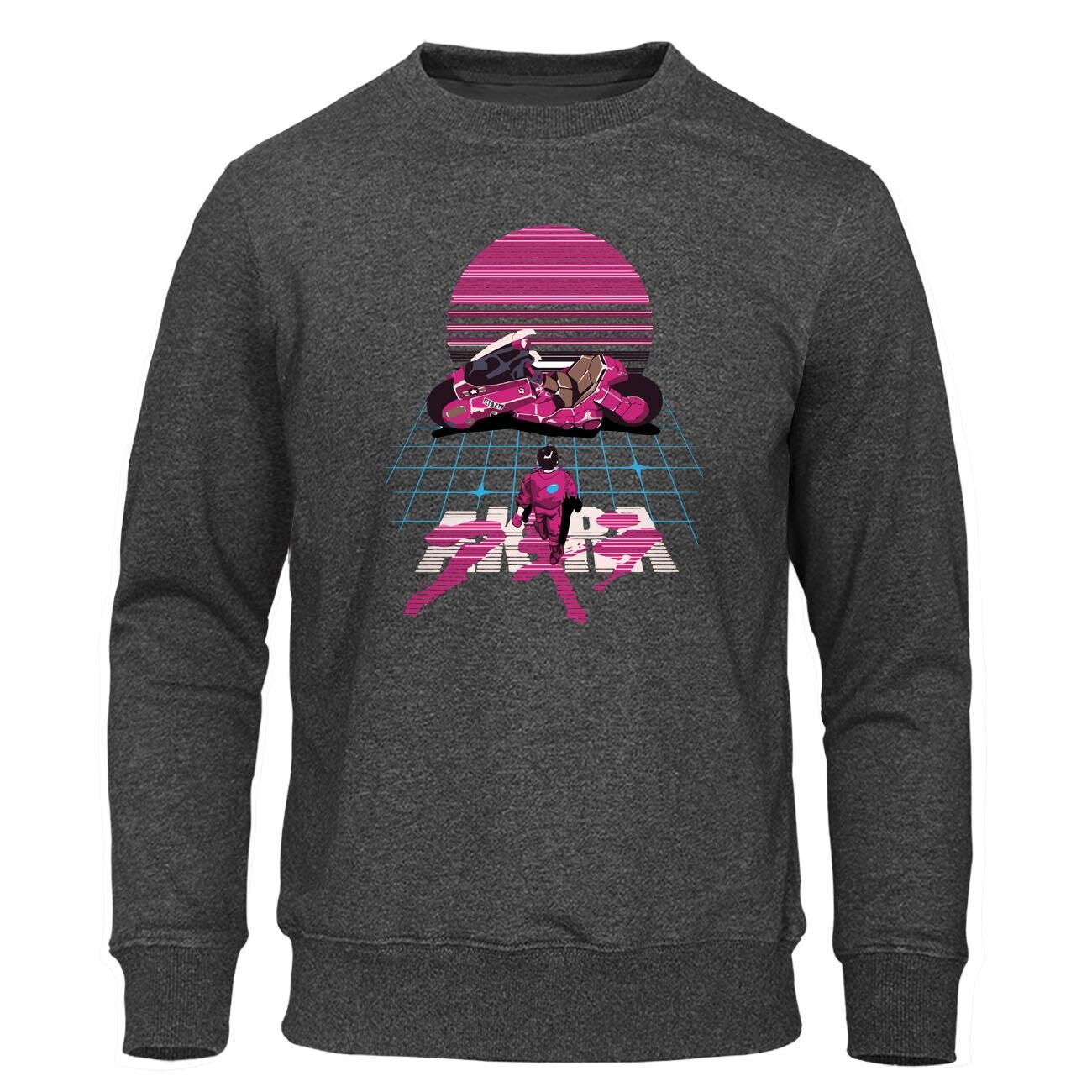 Akira Synthwave Sweatshirt Japanese Anime Hoodies Men Fashion Print Hoodie Casual Male Comfortable Sweatshirts Autumn Pullover