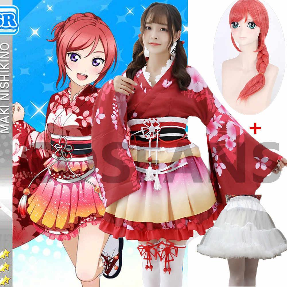 Anime Love Live Nico Yazawa Kawaii Vestido Juegos con disfraces Disfraz Niña Traje De Marinero
