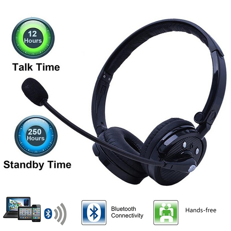 Bluetooth Headphones Multipoint Noise Cancelling Foldable Over The Head Wireless Headset With Boom Microphone Hands Free Phone Earphones Headphones Aliexpress
