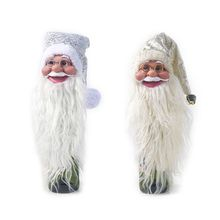 Christmas Santa Claus Wine Bottle Cap Cover Xmas Tree Topper Holiday Party Decor 2019 New