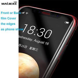 Image 3 - واقي شاشة 10d أمامي + خلفي هيدروجيل لهاتف آيفون 11 برو ماكس واقي شاشة من البولي يوريثان لهاتف آيفون X Xs Max Xr هيكل كامل نانو