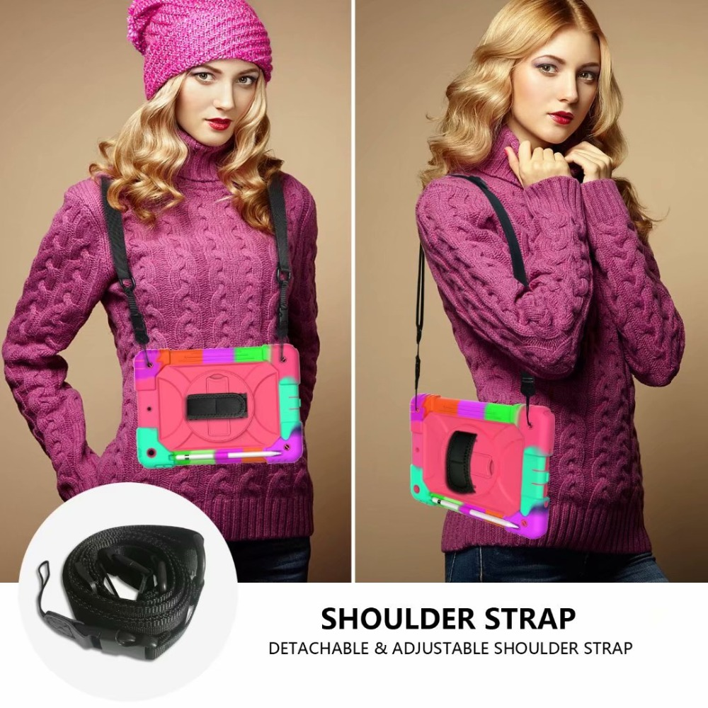 7th Strap Rotating Stand iPad 360 Holder Cover Case Hand Pencil For iPad Generation For