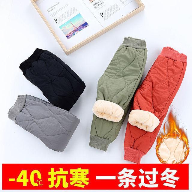 Vidmid Winter Warm Kids Thick Fleece Trousers Pants Clothing Boy Pants Girl Leggings Children Trousers Windproof Snow Pants P393 3