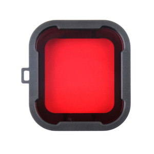 Image 2 - לירות עמיד למים מקרה עדשת מסנני GoPro גיבור 4 3 +/4 שחור כסף פעולה מצלמה אדום מסנן עבור ללכת פרו מצלמת צלילה אבזר