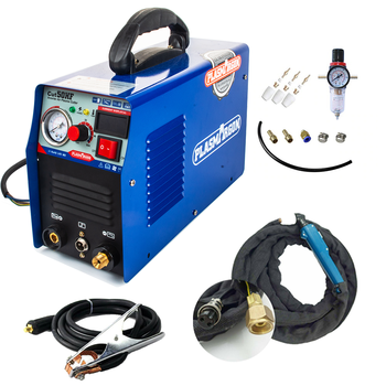 Cortador de Plasma CUT50 de uso doméstico, cortador de Plasma de voltaje de 110/220V 50A con máquina soldadora PT31, accesorios gratuitos