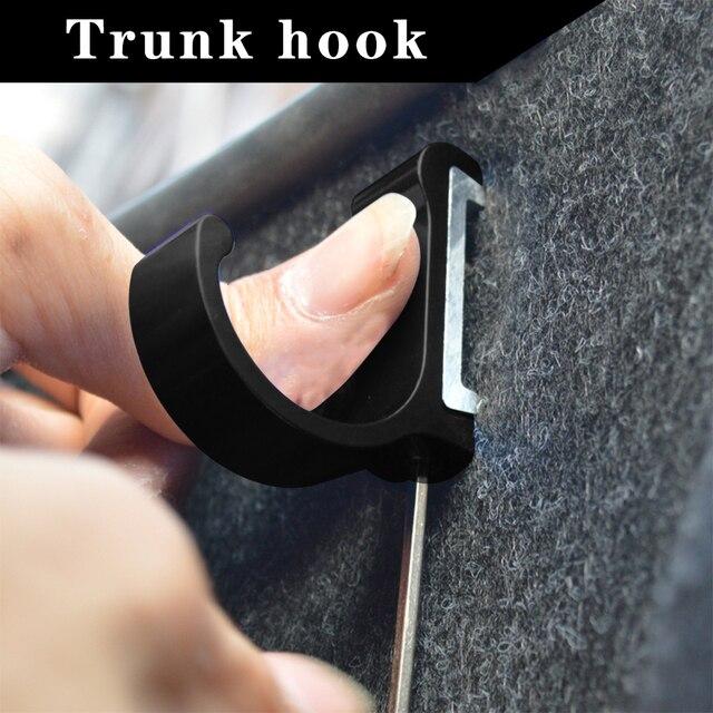 Car rear trunk mounting bracket hook for BMW F10 F11 F15 F25 F30 F02 G30 G12 G01 purse bag organizer Holder Hanging Hooks clasp