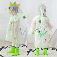 Cartoon Dinosaurier Kinder Regenmantel Wasserdicht Jungen Mädchen Mit Kapuze Regen Mantel Kinder Trasparent Regen Anzug Kleinkind Regenbekleidung HM031
