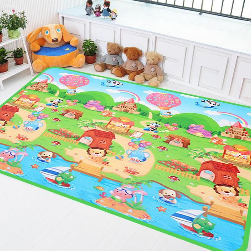 0.5cm Thick Newborn Baby Crawling Play Mat Animal Double-side Infant Puzzle Carpet Momtessori Game Playing Toys For Children