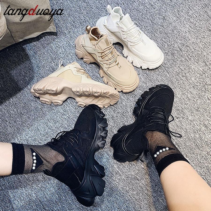 Basketball Sneakers Women Chunky Lace Up Trainers Platform Sneakers Women Tenis Feminino Plataforma Snaker 2020