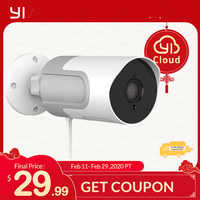 YI caméra IP à Vision nocturne, loT d'extérieur caméra IP Full HD 1080p à carte SD caméra de Surveillance de sécurité résistant aux intempéries