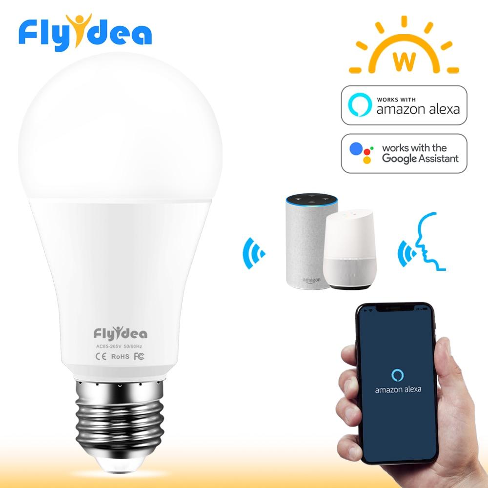 AC100V 15W E27 Wi-fi Inteligente Lâmpada LED Light Bulb 220V Casa Inteligente APP Controle Remoto Candeeiro de mesa com alexa e Assistente Google