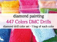 Оптовая продажа, брендовая одежда круглые и квадратные 447 Цвет s для алмазов картина Набор для вышивания сверла алмазные Цвет по выгодной це...