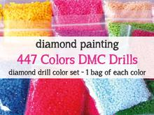 Wholesale Diamond Round&Square 447colors for diamonds painting embroidery Kit Drill Diamond Color Set Sales bags/kg
