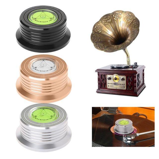 العالمي 50Hz LP مسجل فينيل الصوت القرص الدوار استقرار الألومنيوم الوزن المشبك مع اختبار سرعة فقاعة