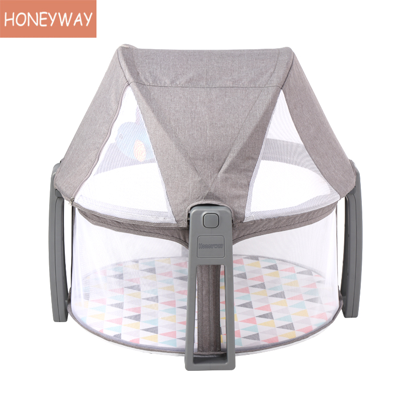 2020 Portable Baby Multi-function Folding Bed Bed Mosquito Net Bed Newborn Play Bed