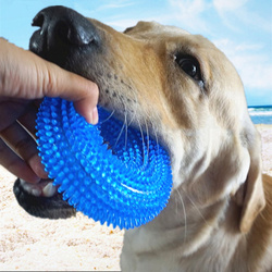 Pet Toys Bite Resistant Sound Toy Ball Chew Teeth Clean Large Dog Golden Retriever Barbed TPR Train Teeth Cleaning Jouet Chien