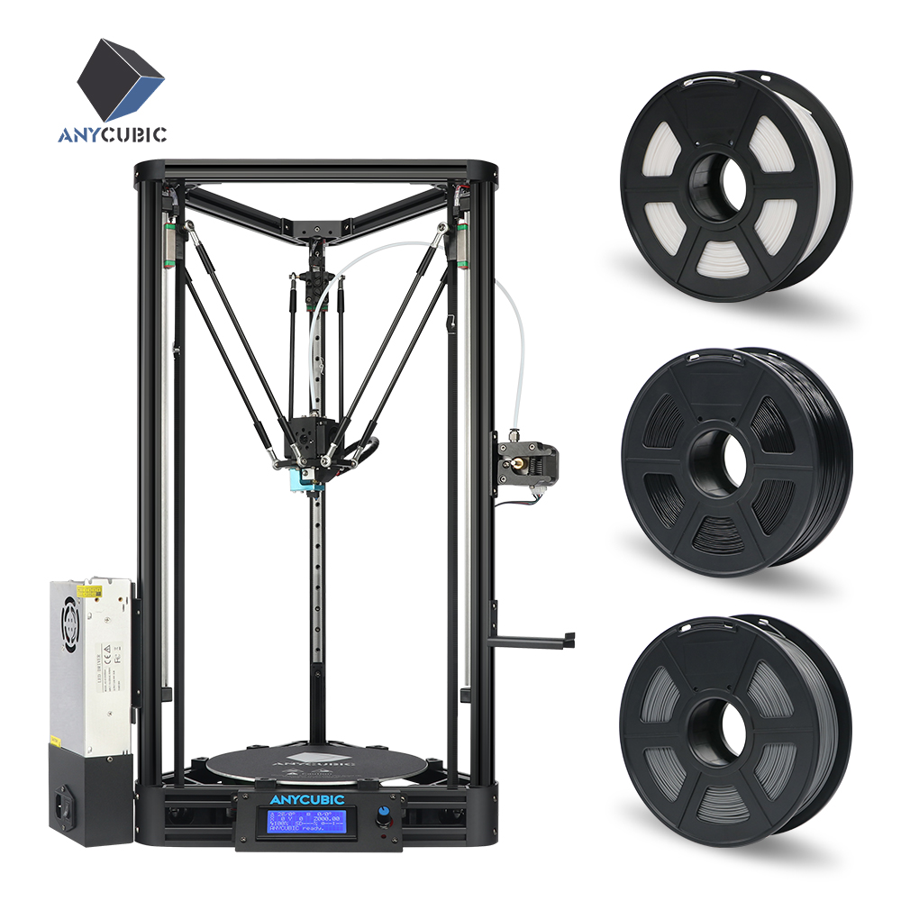 ANYCUBIC Kossel 3d Printer Pulley Linear Plus Half of Assembled Large 3D Printing Size Auto Leveling