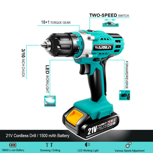 Image 2 - 21V Multifunction Cordless Electric Drill Rechargeable Screwdriver Lithium Battery Mini Drill 2 Speed Power Tools