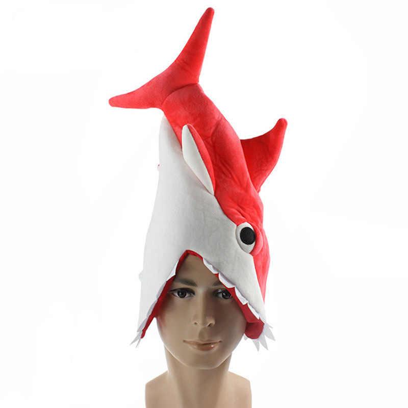 동물 상어 코스프레 의상 3D 모자 크리 에이 티브 개성 멋진 모자 먹는 남자 장난 상어 모자