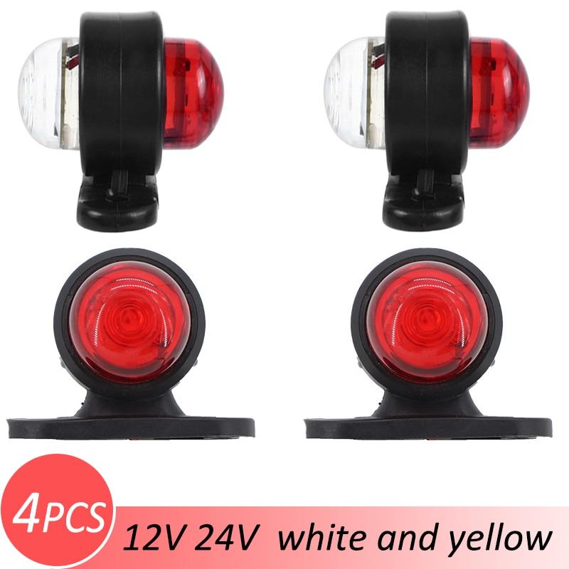 4 Uds indicador lateral luz externa 12V 24V piezas de repuesto Mini camión de remolque duradero 6 Led seguridad Universal señal de giro advertencia