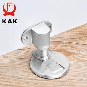 Image 1 - KAK Adjustable Door Holder Stainless Steel Magnetic Door Stopper Non punch Sticker Water proof Door Stop Furniture Door Hardware