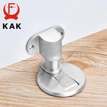 Kak suporte de porta ajustável de aço inoxidável tampa de porta magnética não perfurador adesivo à prova de água parada de porta de móveis
