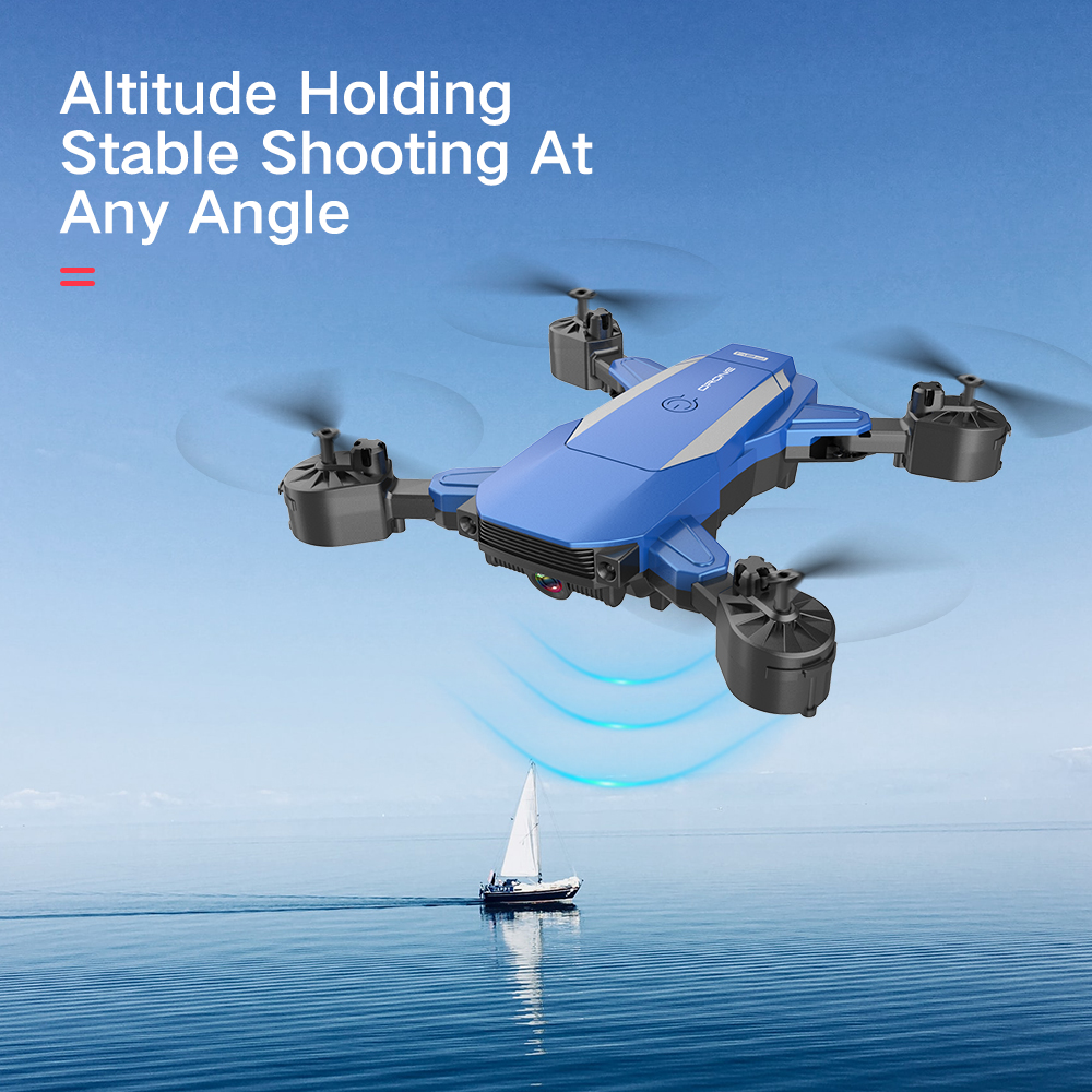 2020 New F84 RC Drone With 4k 1080P HD Camera Wifi Fpv Helicopter Blue And Black Foldable Quadcopter For Children Gift Toy