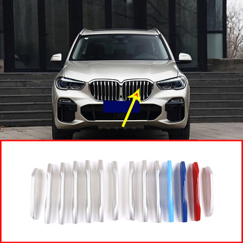14 Pcs For BMW X5 G05 2019 ABS Exterior Car Front Grill Strip Trim Car Accessories