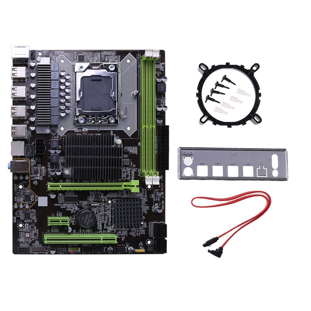 Placa base X58 LGA 1366, compatible con memoria de servidor REG ECC y placa base de procesador Xeon Procesador Intel Core™I5-8400 2,8 Ghz 9 MB LGA 1151 caja