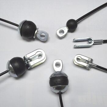 Cable de gimnasio de longitud ajustable, Cable personalizado ④ 6mm, conjunto de accesorios de Cable y cabeza, accesorios de dos terminales personalizados, Wirerope F203