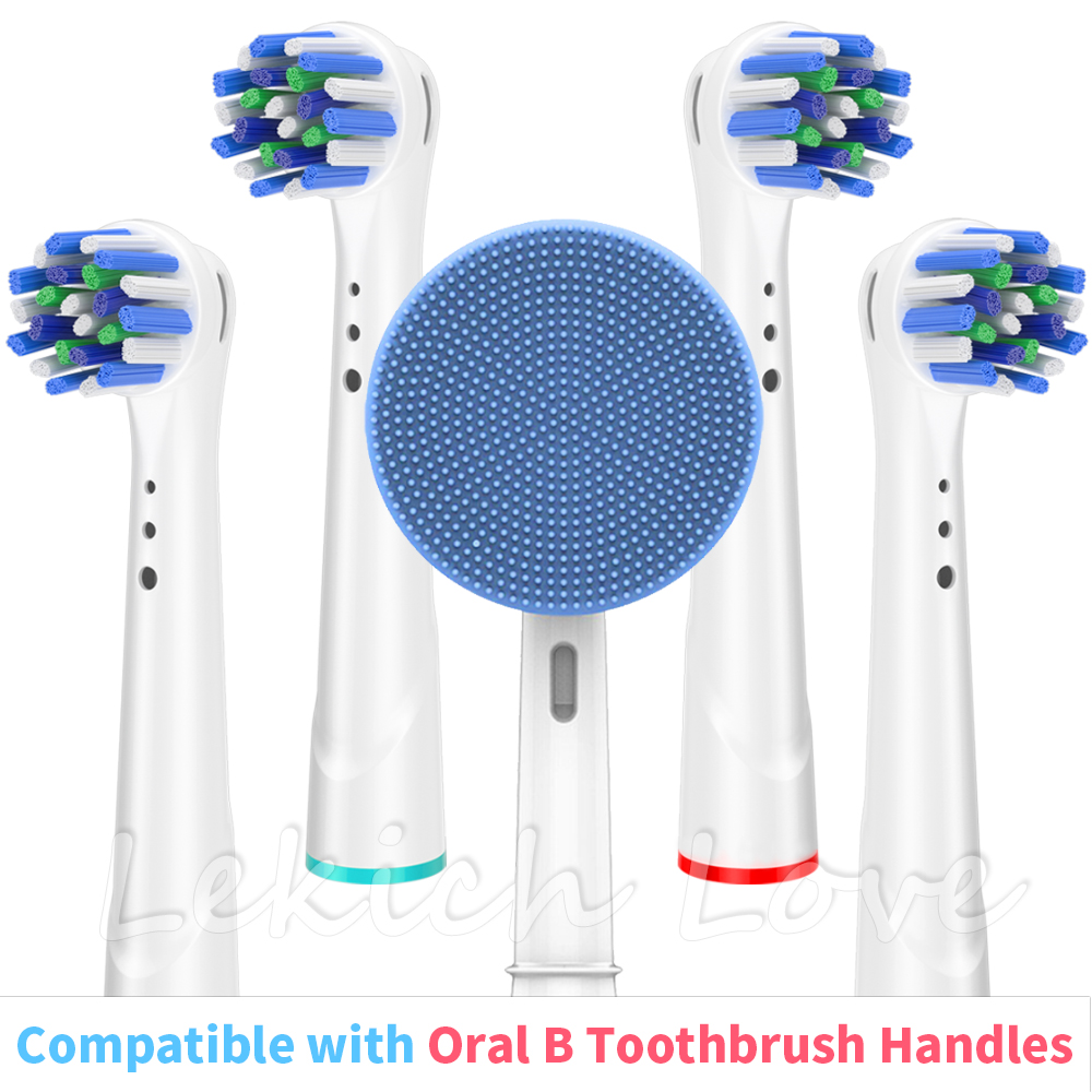 For Oral B Toothbrush Heads, Cross Clean Toothbrush Heads And Facial Cleansing Brush Head Fit For Oral B Electric Toothbrush