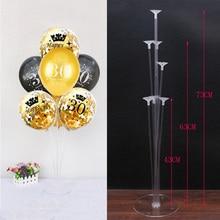 Ballons pour cérémonie danniversaire, 30e, 40e, 50e, colonne de support, noir et or, décorations pour fête danniversaire, adultes de 30 à 40 ans