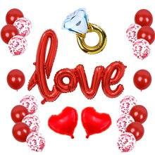 26 шт./компл. романтичный День Святого Валентина воздушные шары для свадьбы вечеринки I Love You, воздушный шар, День Святого Валентина, декоратив...