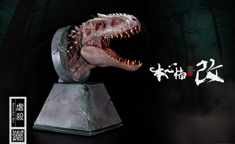 Nouvelle Statue de bustes de tête de Dragon de dinosaure de Nanmu Indominus Rex avec le jouet classique daimant