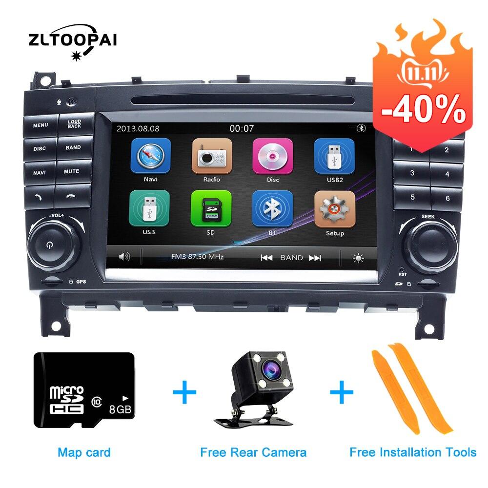 ZLTOOPAI voiture lecteur DVD 2 Din Auto Radio pour Mercedes Benz W203 CLK200 CLK22 C180 C200 CANBUS voiture multimédia lecteur vidéo GPS