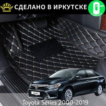 Piso del coche esteras para Toyota Land Cruiser 100 200 Prado 120 150 RAV4 Camry Corolla Highlander Alphard Prius Yaris Fortuner Esteras del coche|Alfombras de piso| |  -
