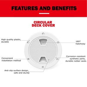 Image 2 - 8 inch Marine Inspectie Dek Hatch Cover ABS Wit Ronde Strakke Schroef uit Anti corrosieve Dek plaat voor Boot jacht Motor woningen