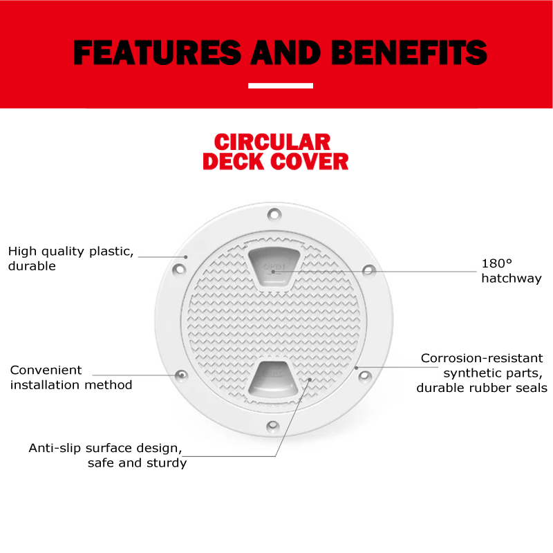 Image 2 - 8 inch Marine Inspection Deck Hatch Cover ABS White Round Tight Screw out Anti corrosive Deck plate for Boat Yacht Motor homes-in Marine Hardware from Automobiles & Motorcycles
