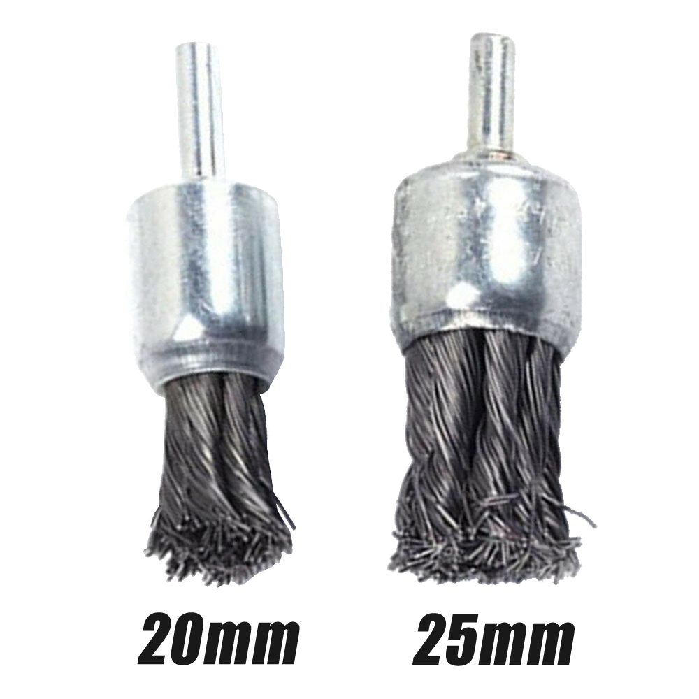 Steel Knot Wire End Brush Rust Paint Removal Tools For Die Grinder Or Drill  Heavy Duty Removing Of Rust Wheel Metal Disc Brush