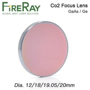 FireRay GaAs Focus Lens Dia.18 19.05 20mm Laser Focus Lens Ge Dia.12mm Laser Lens for CO2 Laser Engraving Cutting Machine laser lens focus lens dia 12mm 18mm length 50 8 mm for co2 laser cutting engraving machine cutter parts