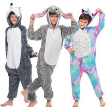 Unicorn Pajamas For Children Kigurumi Sleepwear Boys Girls Anime Cartoon Blanket Sleepers Animal Onesie Kids Licorne Jumpsuit