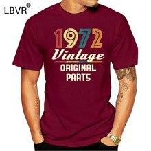 Винтаж 1972 Мужская футболка в ретро-стиле 70-х 46Th на день рождения одинаковые летние футболки с круглым вырезом для малышей Топы-футболки