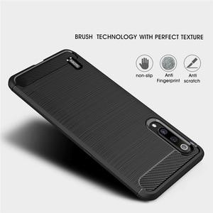 Image 4 - Telefon kılıfı için Xiaomi Mi A3 3 lüks karbon fiber kapak Xiaomi CC9 CC9e CC C 9e C9 C9e 9 yumuşak MiA3 MiCC9 MiCC9e Coque silikon