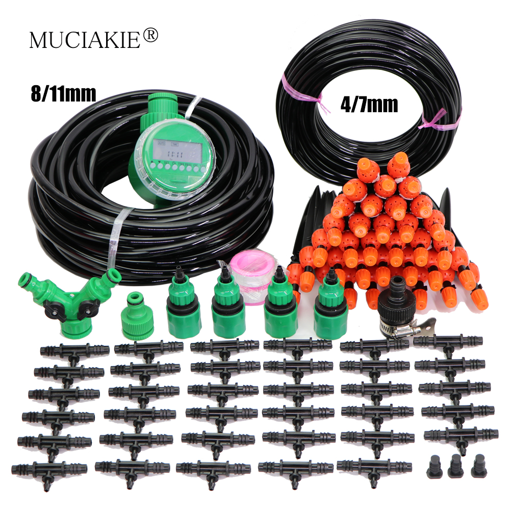 8/11MM Reduced 4/7mm Watering Sprinklers Kits Garden Irrigation System Patio Micro Drip Mist Watering for Flowers Bonsai Plants