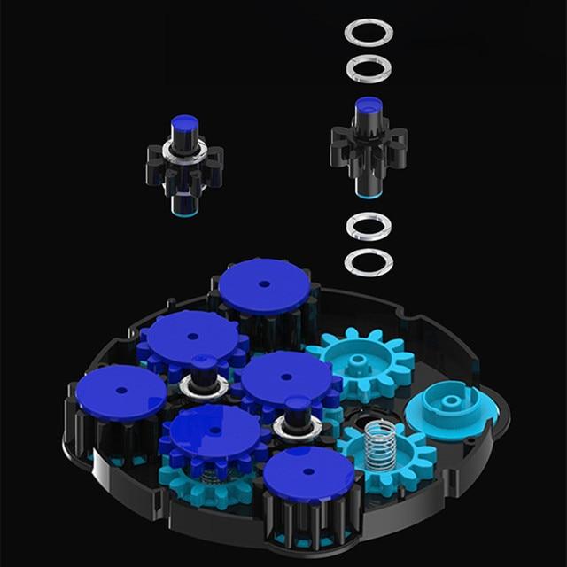 Shengshou Magnetic Positioning Magic Clock Cube Transparent Blue ABS Profissional Magic Clock Intelligence Gear Children's Toys 2