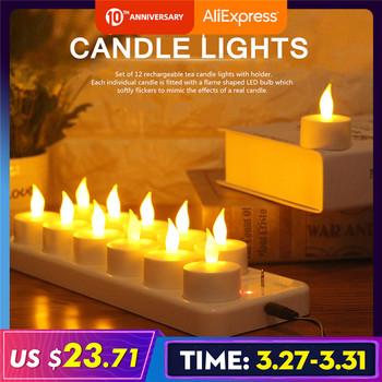 12 sztuk kreatywny LED lampa świeca akumulator migotanie świeca noc światło symulacja płomieni herbata światło dla domu dekoracje ślubne tanie i dobre opinie Świeczka led Filar Urodziny Świeca lampy Kolorowe płomień Plastic Candle Lights