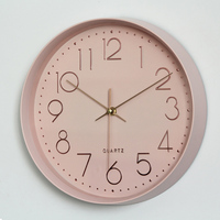 Nordic Clocks Modern Minimalist Top design Wall Clock Silent Unique Decoration Hanging Wall Watches 12 Inch
